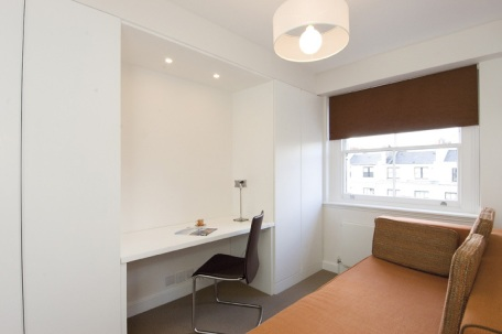 A 2-bed apartment in Bayswater - Study area and guest room - ©Anna Hansson Design Ltd