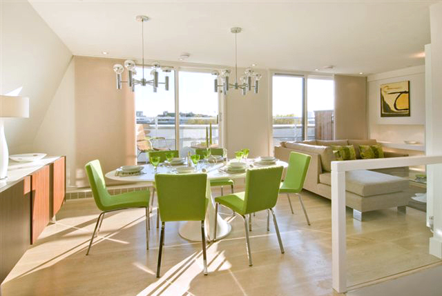 Mount Carmel Chambers  Open plan living and dining area  Anna Hansson  Design Ltd