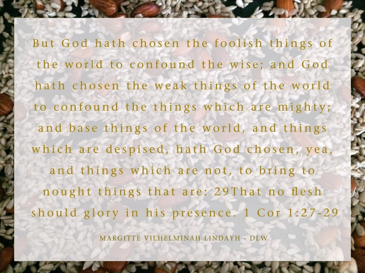 1 Cor 1-27-29 gold - DLW